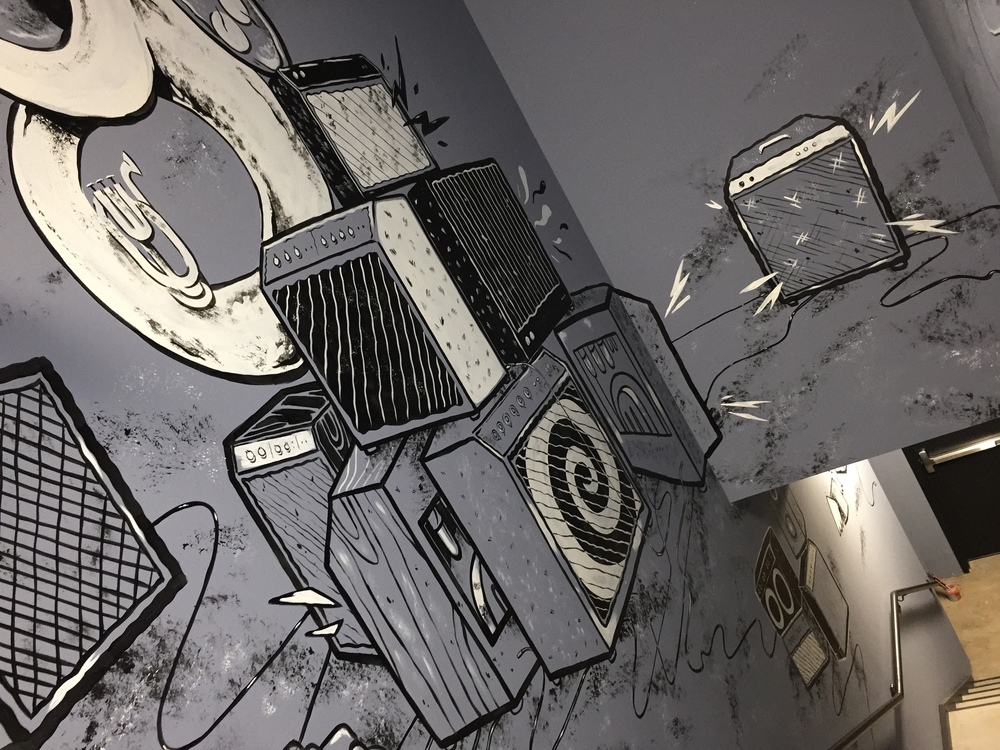 Lake House Recording Studio Mural