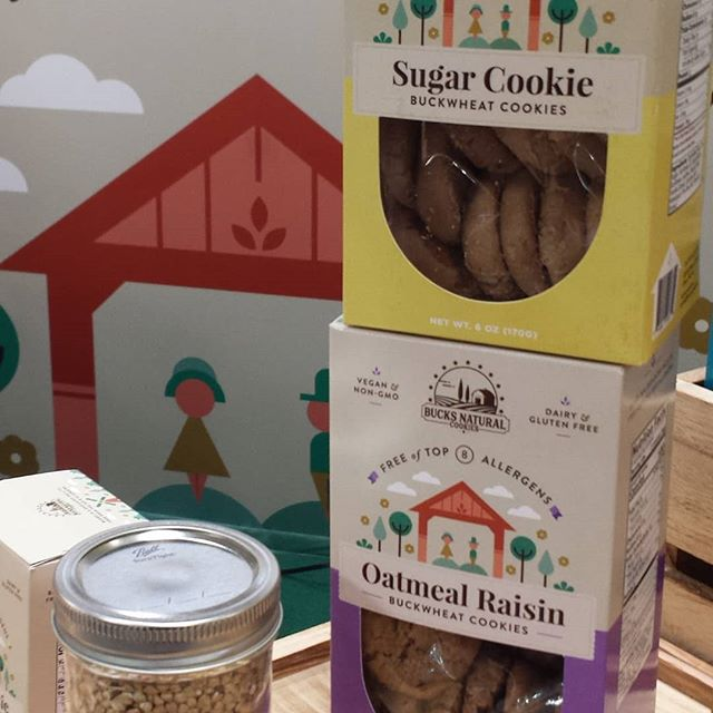 Another peek at our brand new boxes! #glutenfree goodness with our #buckwheat cookies!