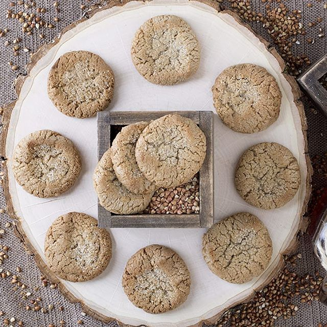 Sugar cookie glamour shot on a sunny Thursday morning! Hopefully Halloween didn't cause a sugar overload! Buckwheat has a low glycemic index making it a great alternative to wheat #themoreyouknow #betterwithbuckwheat #vegan #glutenfree