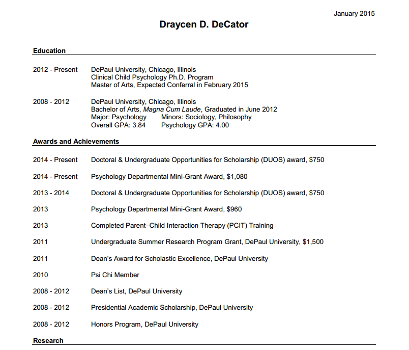 Graduate CV template: what to include in your first résumé