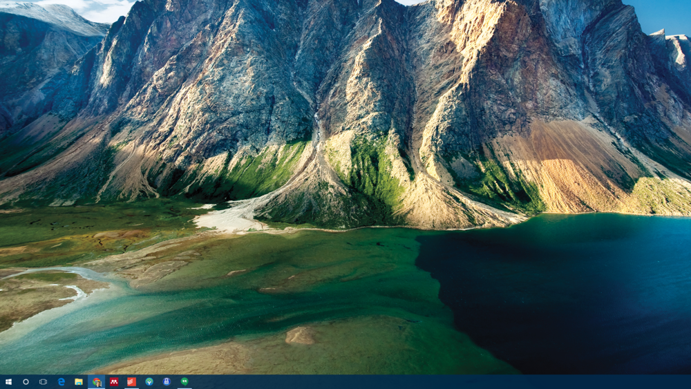 A screenshot of the desktop on my second monitor (which is why the info is missing from the bottom-right corner)