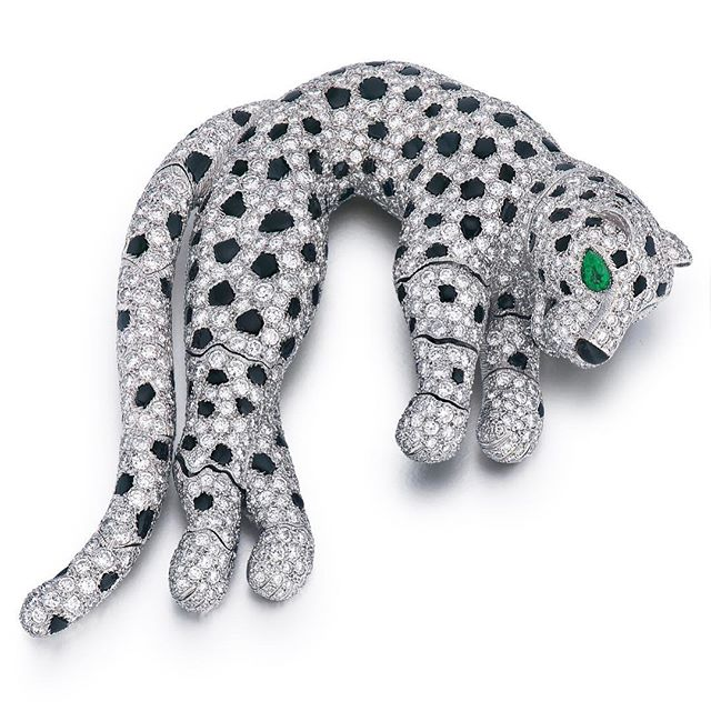 Cartier feline Friday 'Roar Power' from our 2011 archives. In the History of Jewelry the Wallis Simpson pride of 'big cats' started a jewelry fashion trend for feline frenzy that has never lost its magic. The tiny panther paws perfectly articulated Sold for a record $408,000 in 2011. . . . . . . . . . . . . . . . . . . #Cartier #cartierpanthere #frenchjewels #wallacesimpson #finejewelry #investment #investmentjewellery #collectibles #luxurylifestyle #luxuryjewelry #palmbeachjewels #panthers #cartierpanther #cartierparis #cartierarchives