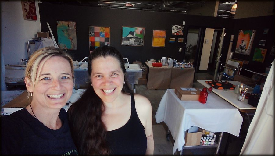 Liz and I in the studio of  Deanna Fainelli  which we rented for our two-week residency.