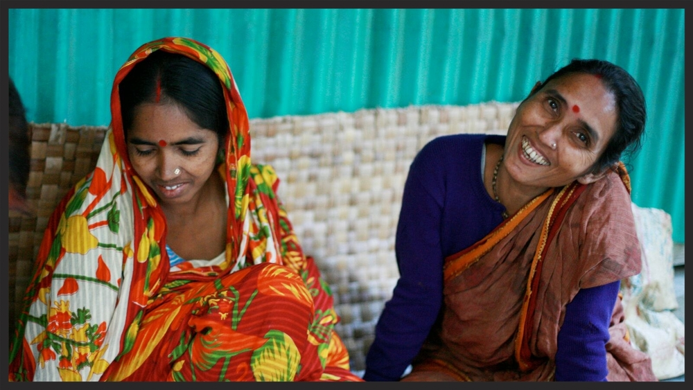 Women from the artisan co-op in Bangladesh.
