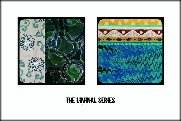 A peek at two of the five pieces from the Liminal Series.