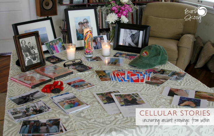 Memorial table for my mom, who passed away in January.