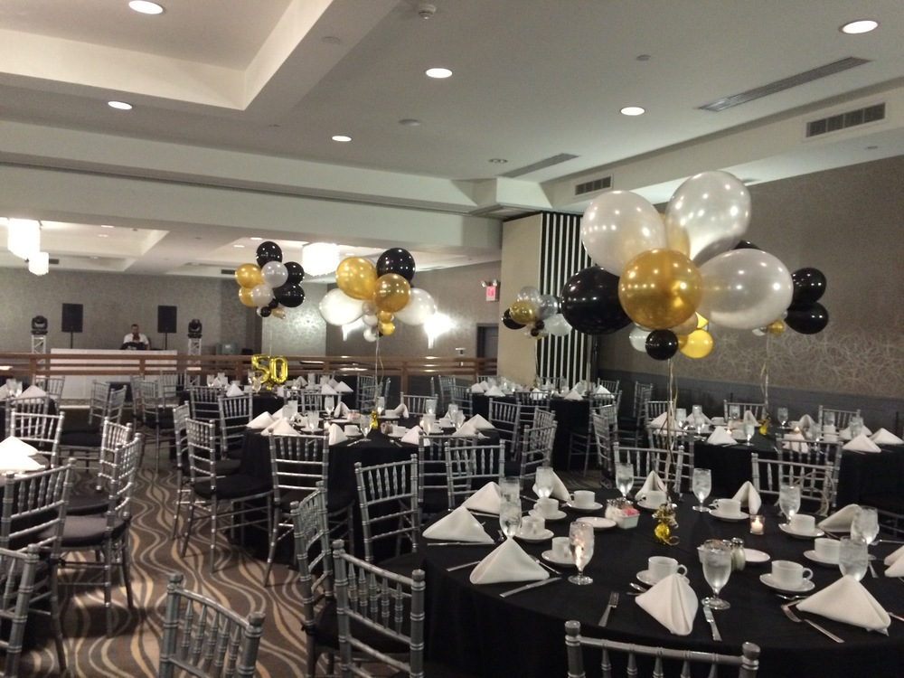 Personalized custom party balloon centerpiece