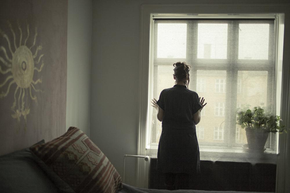 Pia in her apartment in Copenhagen