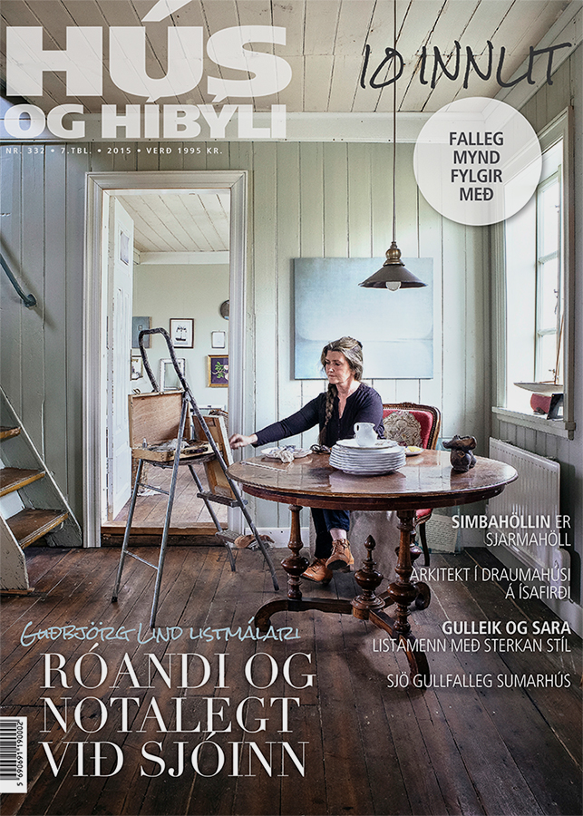 Went to the West fjords and photographed a couple of cozy country homes for the interior magazine Hús og Híbýli. Among thoose this cozy house of the amazing artist Guðbjörg Lind