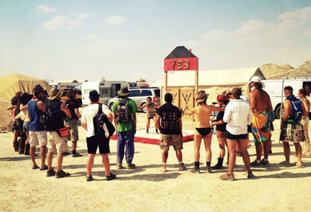 Leading a Yes workshop on how to make the most of your Burning Man. 2013