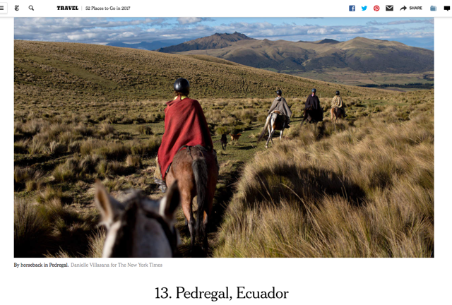 ride andes horse trek new york times pedregal ecuador