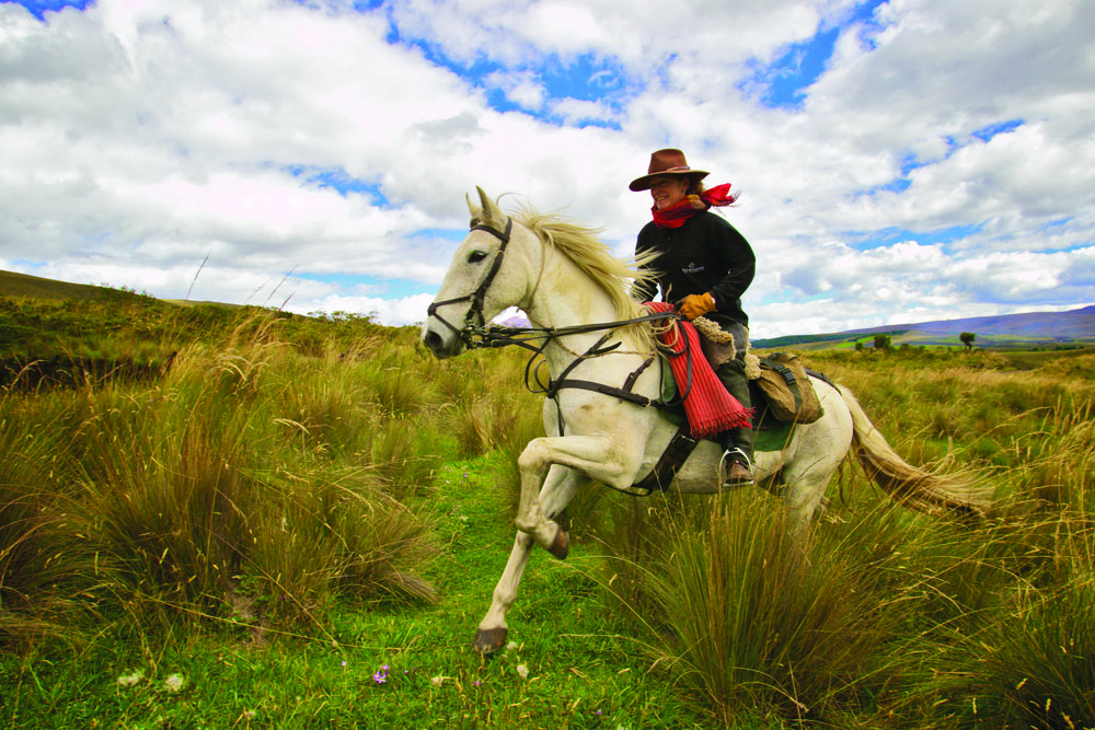 ride andes horse trek ecuador horseback holiday