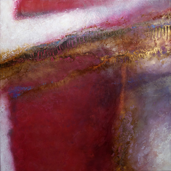 Emerging 20   48 x 48 x 3  Encaustic and Mixed Media on Panel