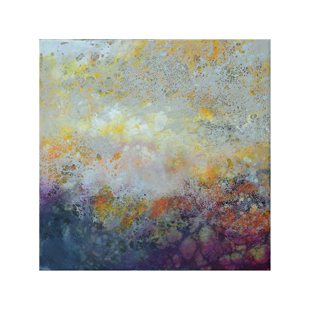 Evening Comes 2   12 x 12  Encaustic on Panel  $300