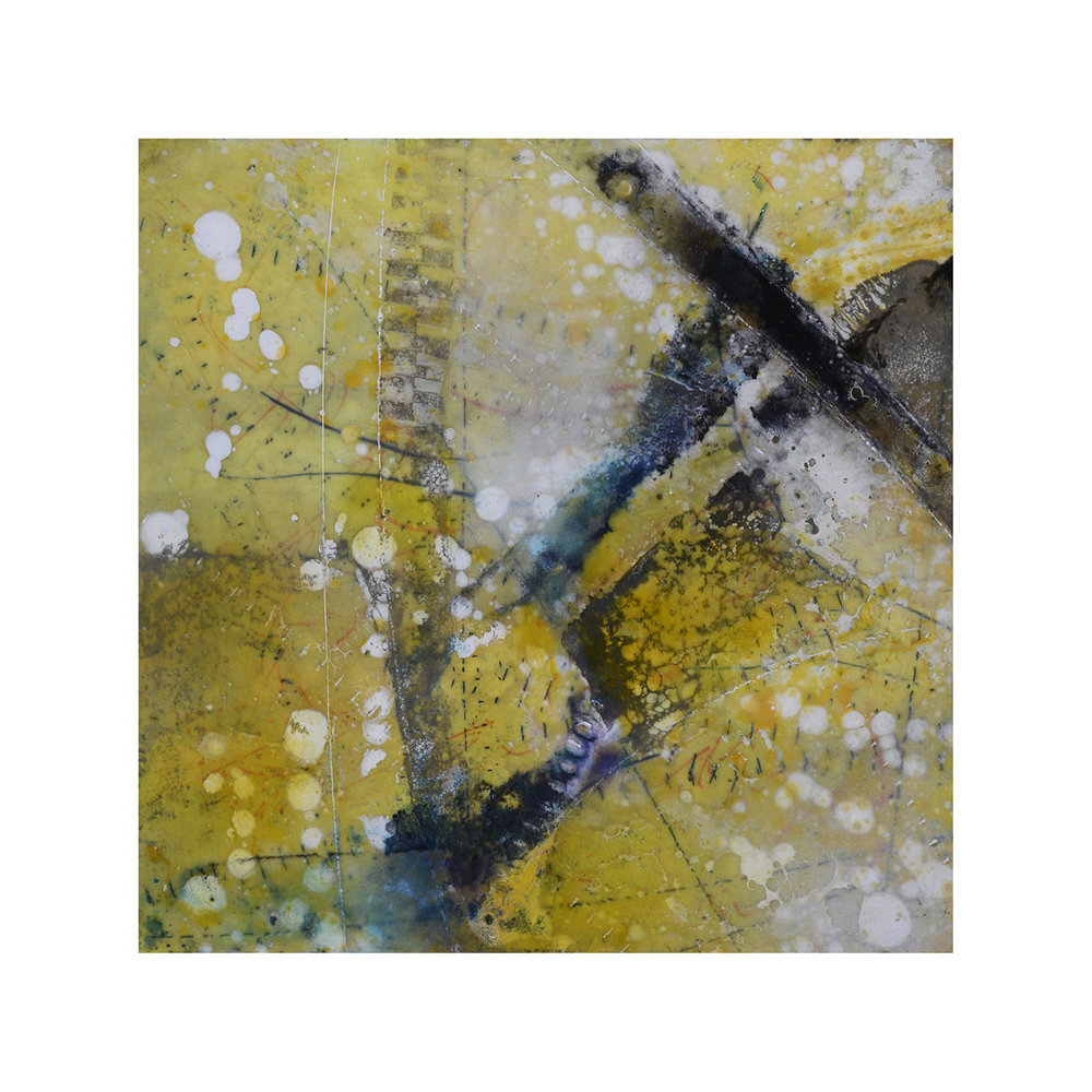 Forces of Nature 1   12 x 12  Encaustic on Panel  $300