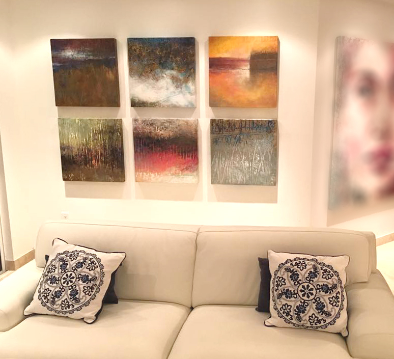 Series of 6 paintings sold at Spectrum Miami show