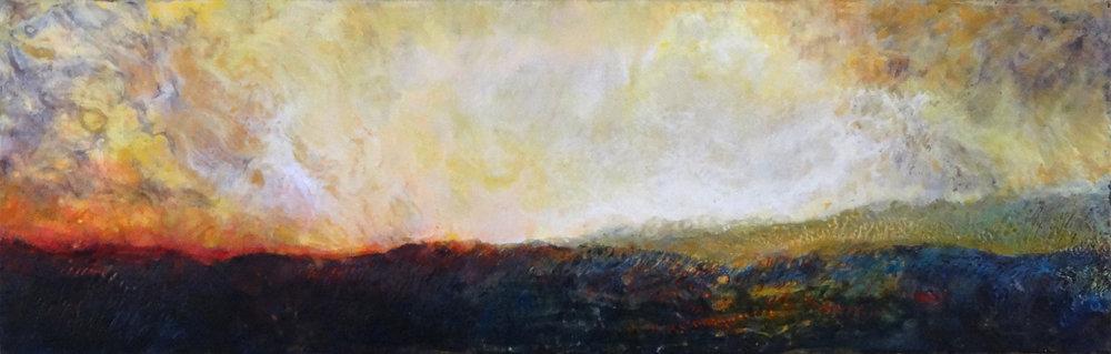 Encaustic Sunrise - SOLD