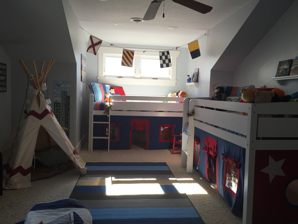 Loft Bed Shared Boys Room