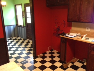 Before: Kitchen looking to Dining Room
