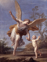 The Guardian Angel by Franceschini, Marcantonio, Dulwich Picture Gallery.