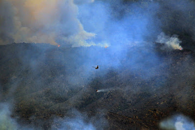 Arial Fire suppression photography.
