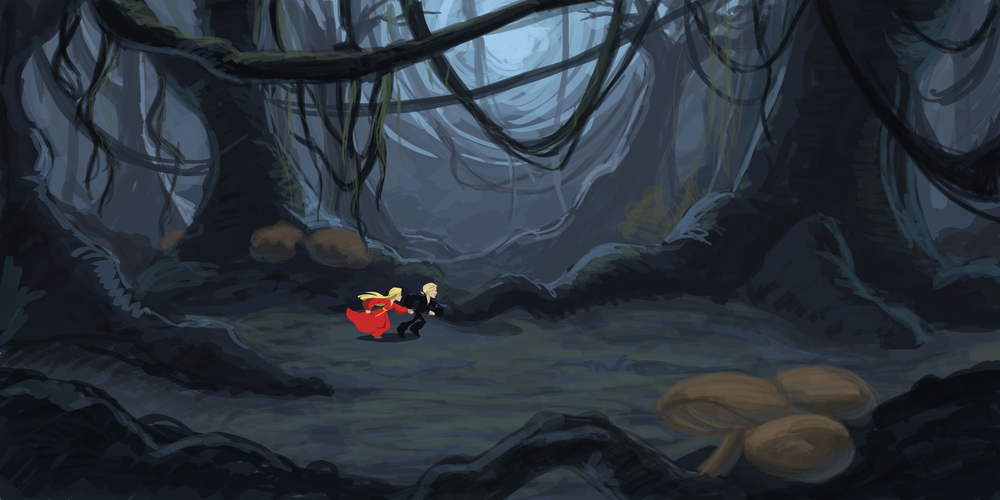 Fire Swamp, rough concept.