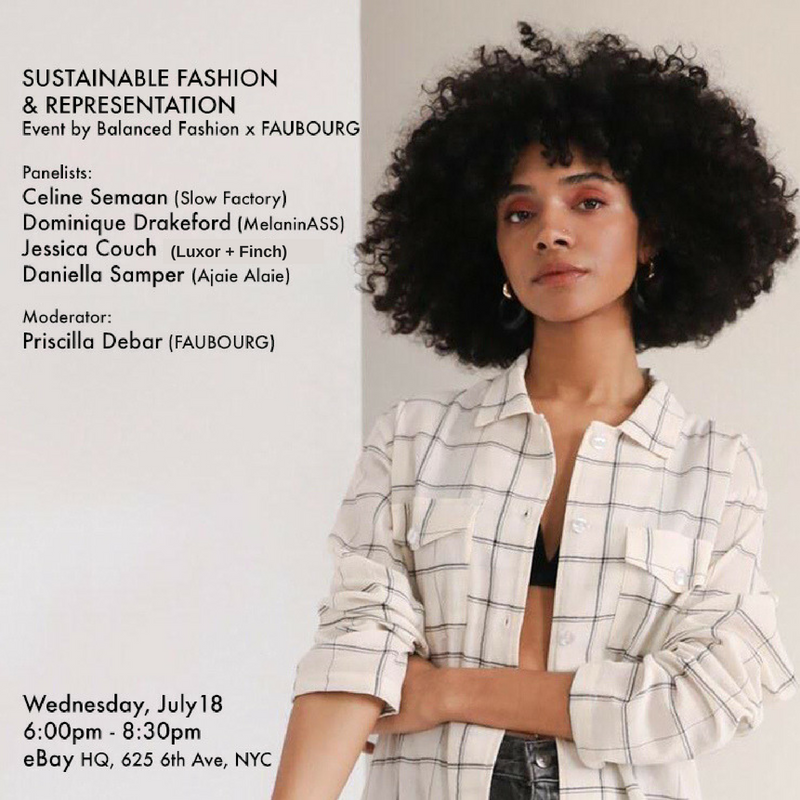 Balance Fashion X FAUBOURG - Join the discussion on sustainability and representation! 7.18.18