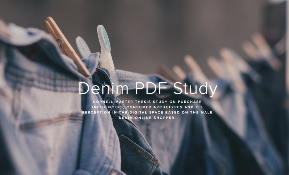 Denim PDF - Comprehensive masters thesis synopsis on denim fit perception for men.