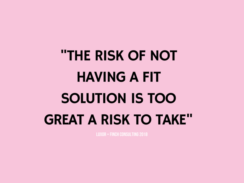 no fit is a risk