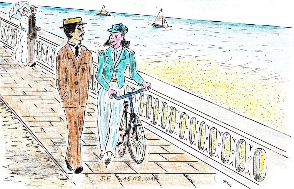 11-Le narrateur et Albertine sur la digue Marcel Proust.jpg