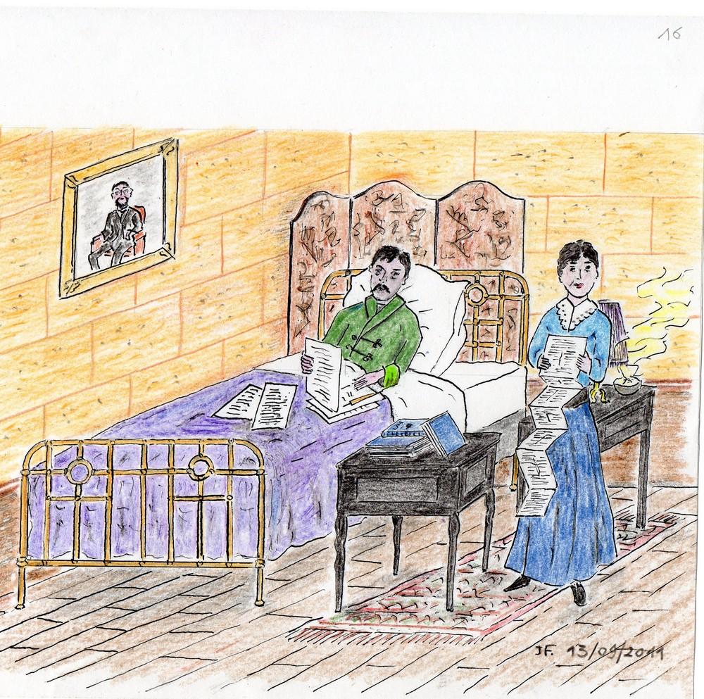 16-Marcel dans son lit avec Céleste et ses ''paperoles''.jpg