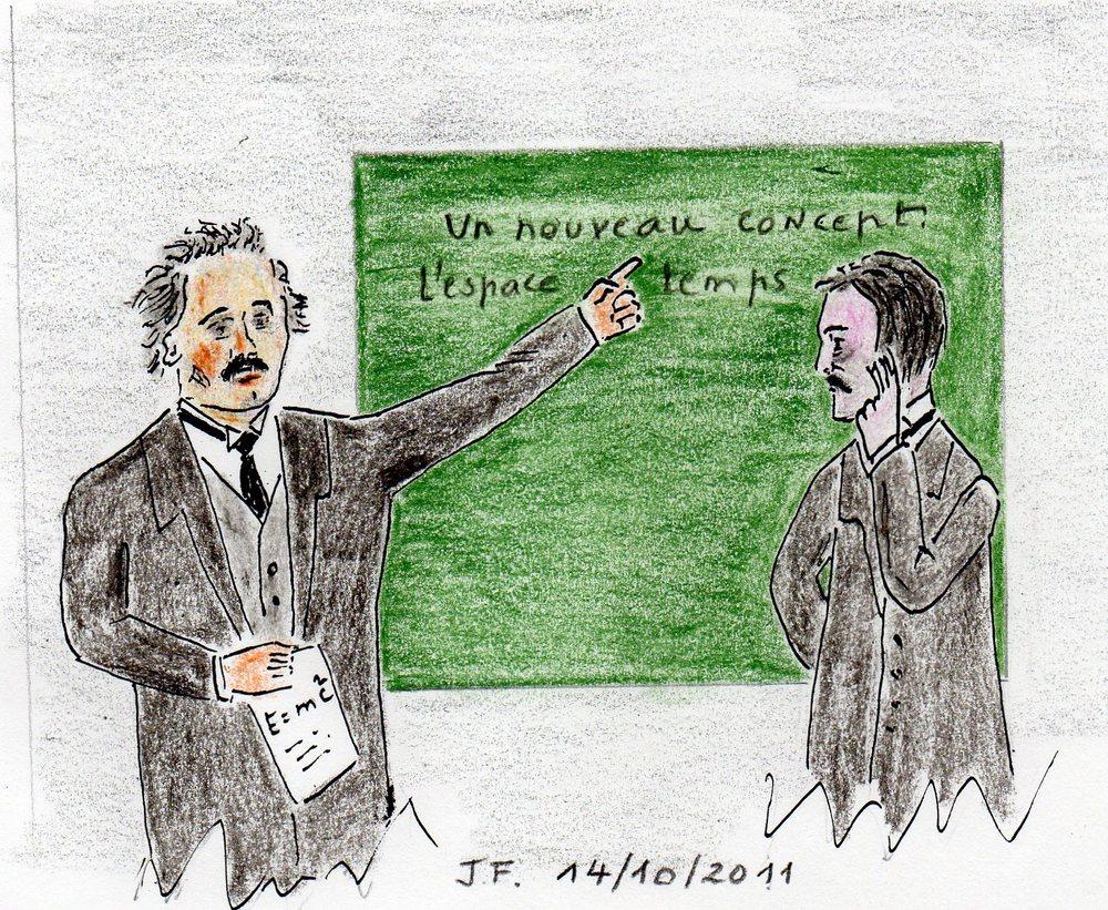 23-Marcel Proust et Albert Einstein...Discussion sur le nouveau concept de l'espace-temps.jpg