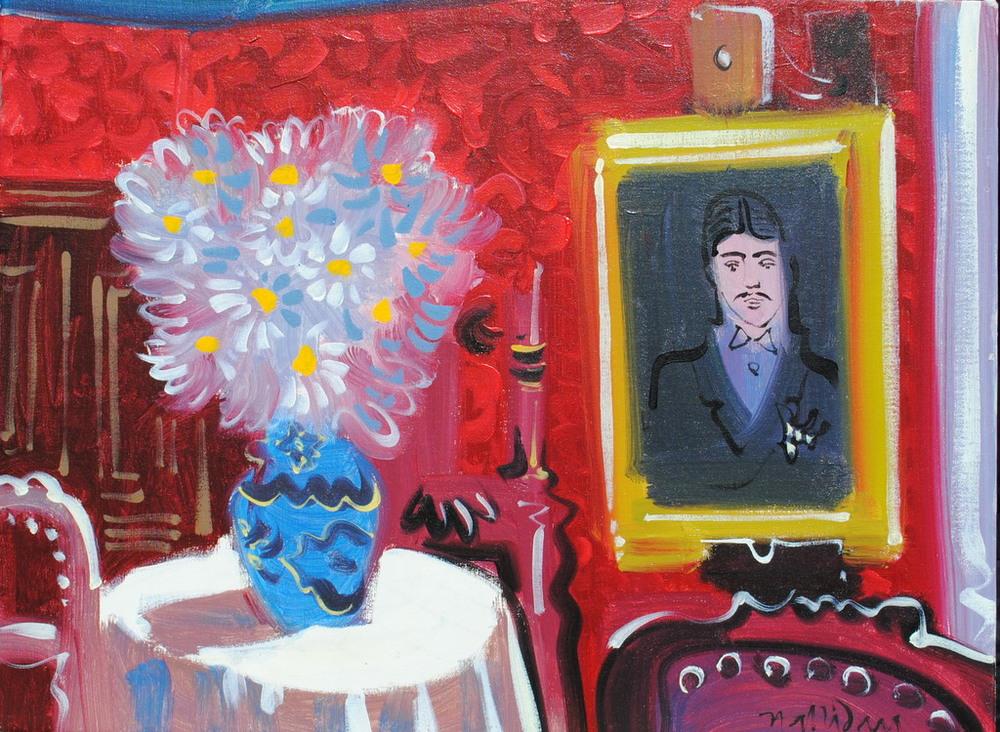 La Maison de Tante Leonie, Alan Halliday, huile sur toile. 60cm x 80cm..JPG