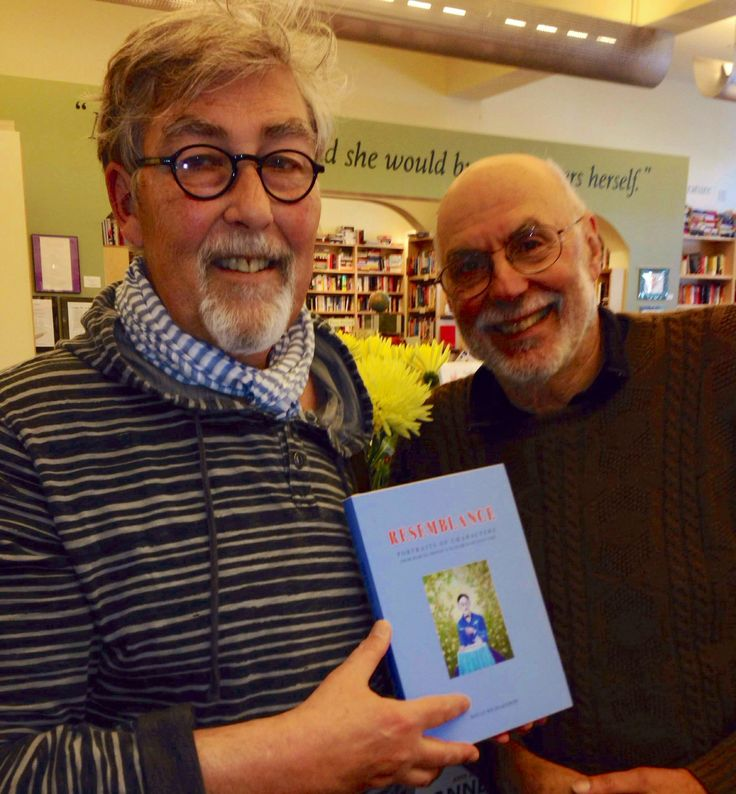 David Richardson (left) with Larry Bensky (right).