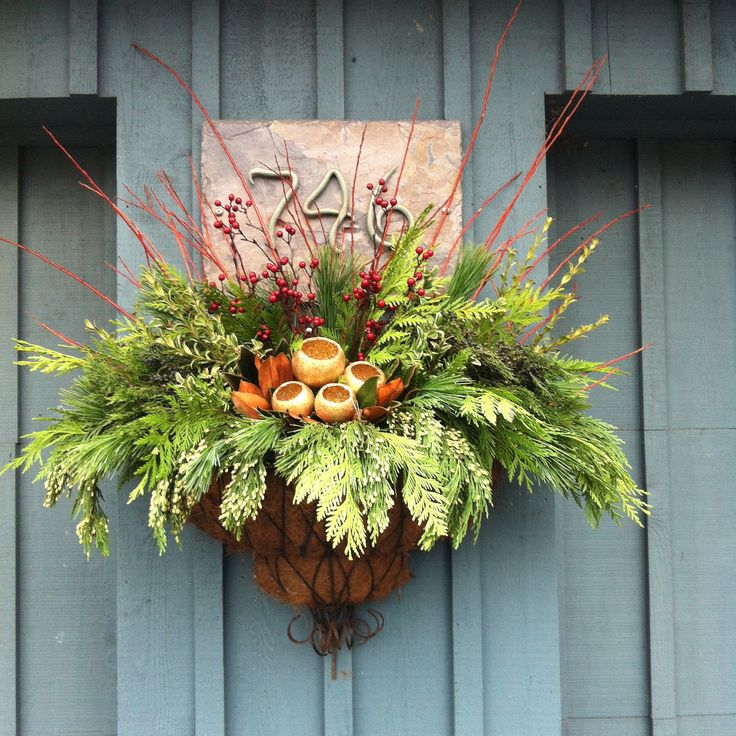 Christmas Arrangement- Iron Wall Planter.jpg