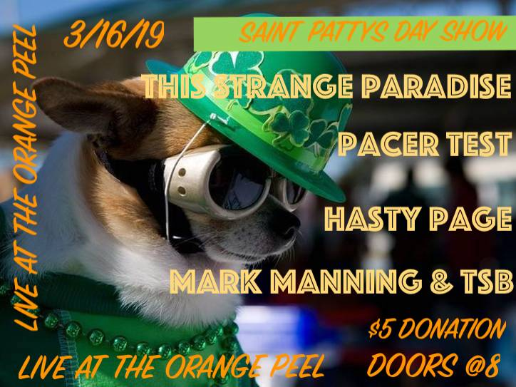 Upcoming Shows — Hasty Page