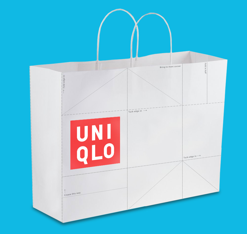 To bring Thoughtfold to Uniqlo's brick-and-mortar presence, each paper bag shoppers take home contains perforation and instructions to turn the bag itself into a paper crane. This reinforces the overall theme of finding beauty in the ordinary.