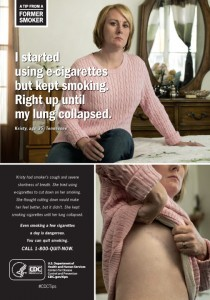 The CDC began an advertisement campaign this year about the dangers of e-cigarette use.