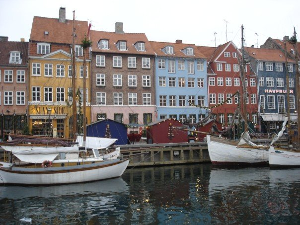 A photo I took on my 2006 trip of Nyhavn, a famous 17th century canal and entertainment district in downtown Copenhagen.