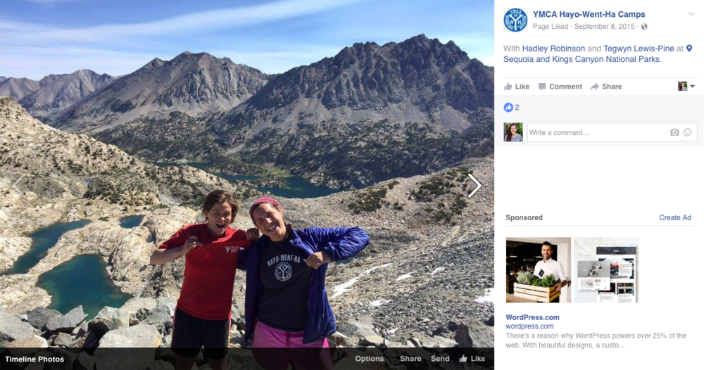 Camp Hayo-Went-Ha does a great job of posting alumni travel photos!