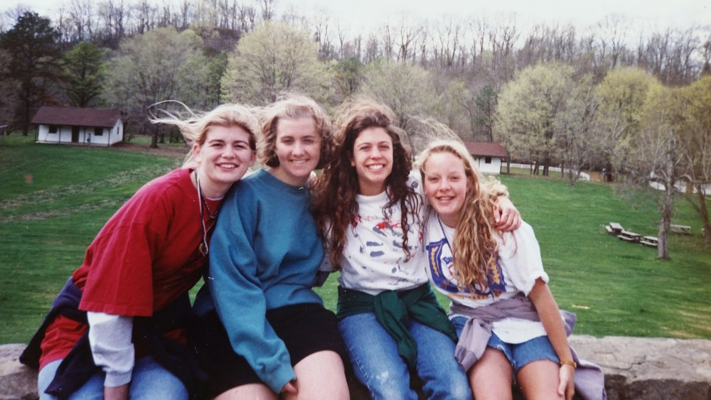 Eli (R) and friends at Camp Ernst, circa 1994