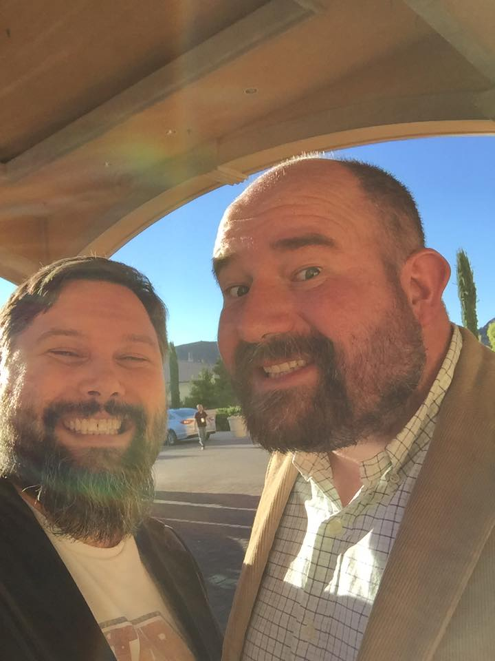 Matt (Right) with Jeff Daly on one of their many travel adventures for their work with IENA