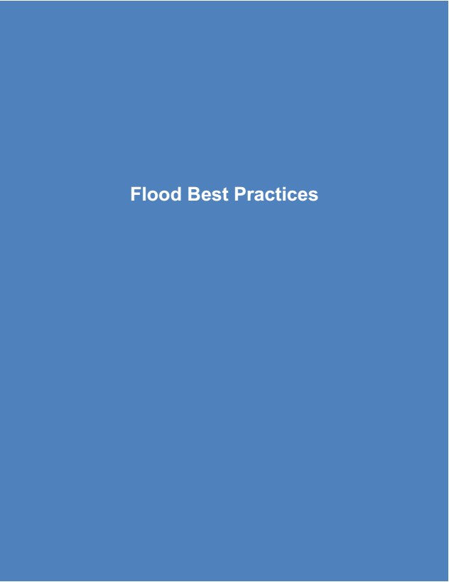 Flood Best Practices