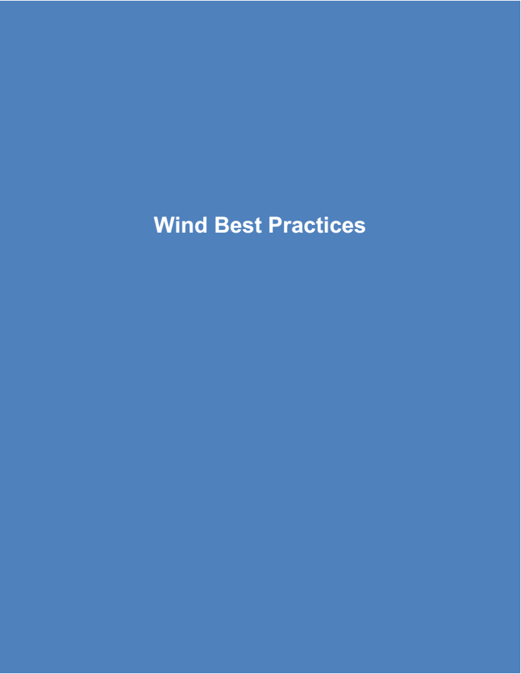 Wind Best Practices