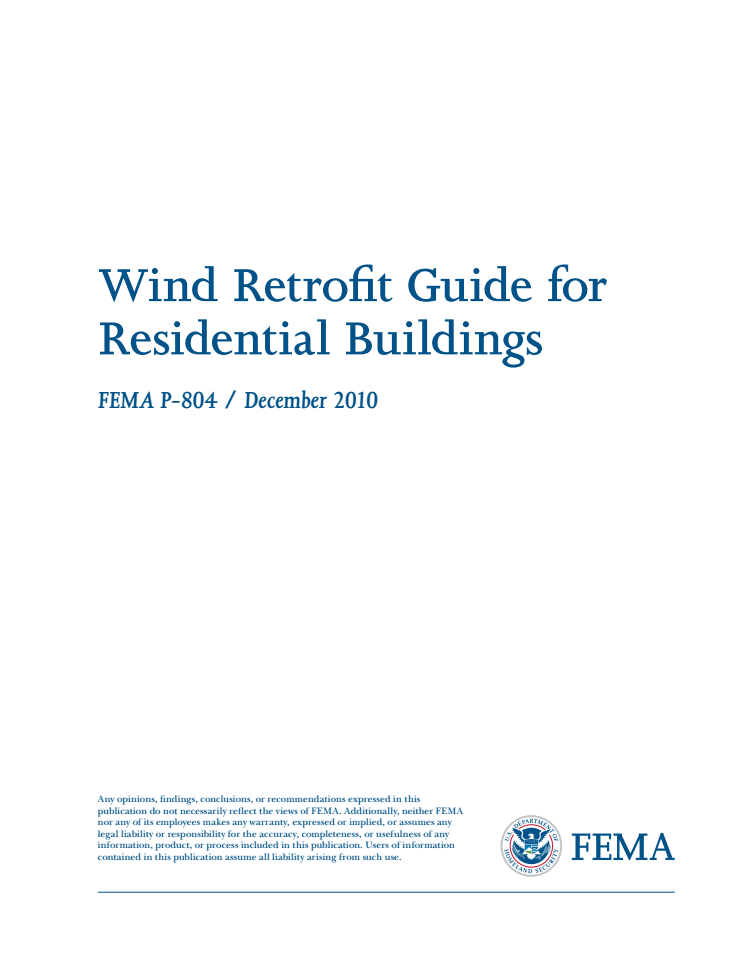 Wind Retrofit Guide for Residential Buildings