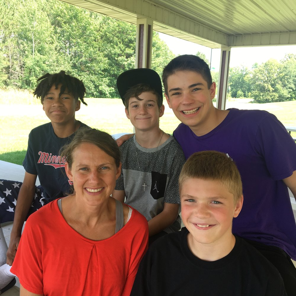 Top Left: Adam, Malachi, Andrew, Christian, and Jill (Summer 2018)