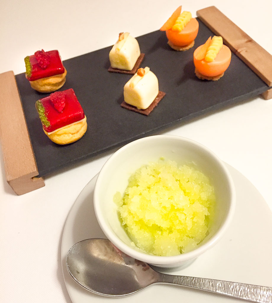 7th Course: Lemon Ice + Petit Fours, 9/10