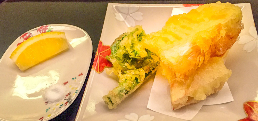 3rd Course: Vegetable Tempura, 8/10