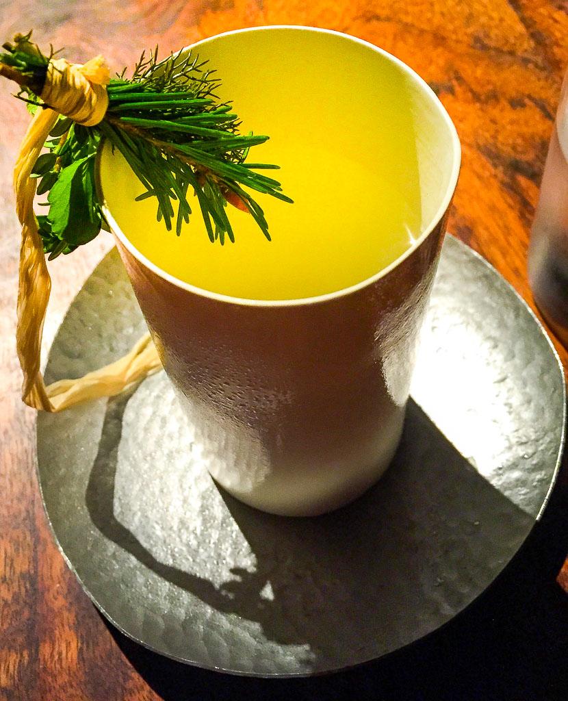 1st Course: Meyer Lemon Tea + Garden Herbs, 8/10