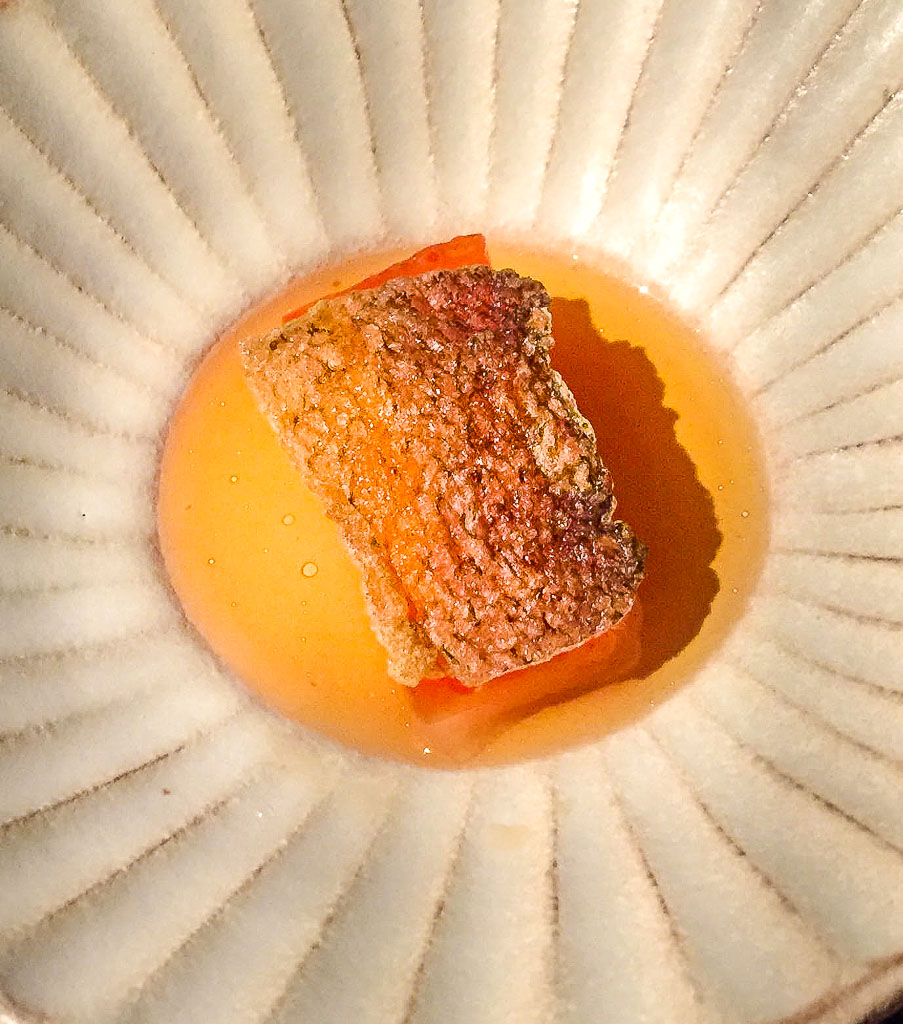 6th Course: Trout + Roe, 9/10